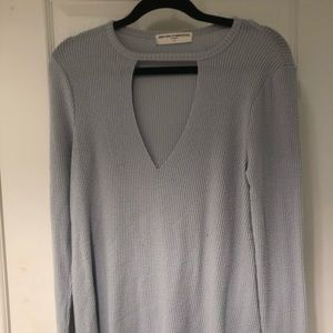 Urban outfitters blue keyhole top